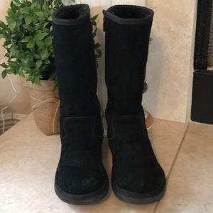 UGG Black Tall Sunset Zip Up Boots